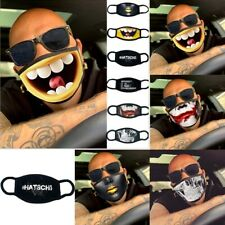 Men's Funny Washable Facemask Half Face Mouth Mask HipHop Cospaly Party Mask