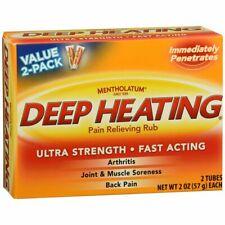 Mentholatum Deep Heating Pain Relieving Rub - 4 OZ (3 Packs)
