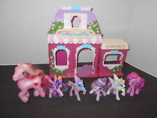 My Little Pony Cotton Candy Cafe 2002 Play Set with Huge Lot of Accessories