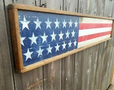 American Flag Distressed Wood Sign/Rustic/4th of July/U.S.A./Memorial Day/Vintag