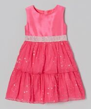 "NEW PINK TWINKLE SEQUIN"" Easter Dress Girls 5 Spring Summer Boutique Clothes"