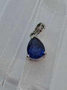 10k White gold Sapphire & Diamond Pendant from Michael Hill Jewellers