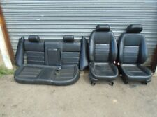 JAGUAR X TYPE ESTATE LEATHER ELECTRIC SEATS FRONT AND REAR 2001-2009 BLACK