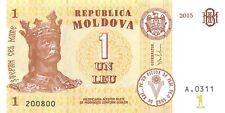 Moldova 1 Leu 2015 Unc Pn 21a