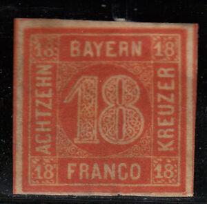 Altdeutschland // Bayern Quadrat 18Kreuzer ungebraucht