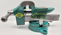 Vintage Littlestown 3 1/2 Inch Swivel Bench Vise NO. 112 - Restored