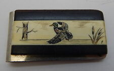 Duck Inlay Engraved Money Clip R11191