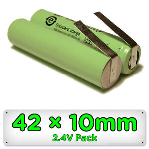 Replacement Trimmer Shaver Battery 42mm x 10mm 2.4V NiMH for Remington Barba etc