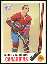 1969 70 TOPPS #3 JACQUES LAPERRIERE NM MONTREAL CANADIENS  HOCKEY CARD