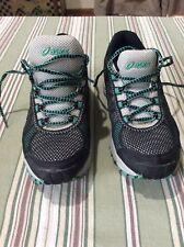 NM-353 ASICS Gel Trail Attack 7 Black Aqua Mesh Lace Up Sneakers T161N  Size 7.5