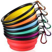 Collapsible Dog Bowl [6-Pack] Travel Portable Dog Bowl(12Oz)Silicone Foldab Y4W8