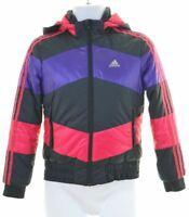 ADIDAS Girls Padded Jacket 11-12 Years Multi Polyester  DI06
