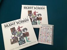 LEGENDS OF THE SILENT SCREEN A Collection of US Postage Stamps Book w/Stamps1989