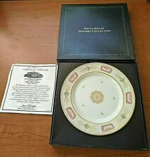 Woodmere White House Dessert Collection Plate - John Quincy Adams w/ CoA