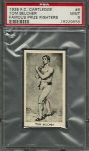 1938 F.C. CARTLEDGE #6 TOM BELCHER PSA 9 MINT POP 10 FAMOUS PRIZE FIGHTER BOXING