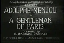 DVD A Gentleman of Paris (Harry d'Abbadie d'Arrast,1927) 	Adolphe Menjou ,Arlett