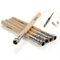 5 Pcs Pencil Extender Adjustable Wooden Lengthener Holder Painting Drawing Tools
