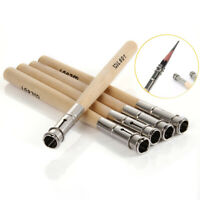 5 Pcs Pencil Extender Adjustable Wooden Lengthener Holder Painting Drawing Tools