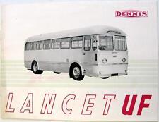 DENNIS Lancet UF Original Commercial Sales Brochure 1952 #249C B.Ltd. J.9.52