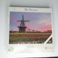 MI Puzzles De Zwaan Windmall 1000 Piece jigsaw puzzle Holland 27x20in Phil Stagg