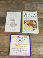 Lot Of 3 New Father Dad Birth Books Preparedness Advice For Dads