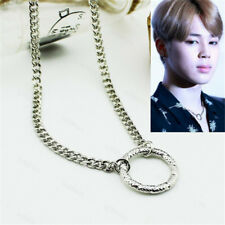 KPOP BTS JIMIN Necklace Wings Chain Bangtan Boys Silver Ring Pendant Jewelry