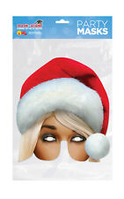 Christmas Mrs Claus Half Face Party Mask Card A4 Fancy Dress Ladies Kids Xmas