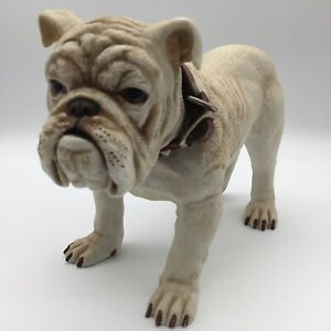"""Georgia Bulldog Decanter Old Bardstown 11.25"""" Red Studded Collar Mint EMPTY"""