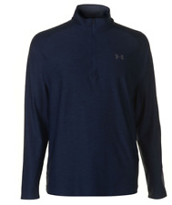 Under Armour Play Off Half Zip Top Mens Navy Size Uk S *Ref10