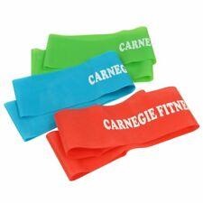 Carnegie Loop Band Set - 3x Fitnessband, Gymnastikband Set mit 3 Zugstärken, Wid