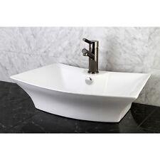 New** Sonata White China Vessel Lavatory Sink