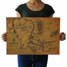 US SELLER- wall pieces for Map Of Middle Earth Lord Of The Rings retro poster