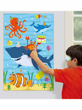 Ocean Buddies Sea Creatures Birthday Party Game For 12 Pin The Hat On The Shark