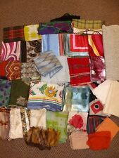 Estate Lot of 30 Vtg Scarves Wraps Square Oblong Silk Crepe Rayon Italy Sheer ++