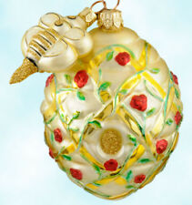 Patricia Breen Trelliage Ornament Red Roses Floral Beehive 2000 2Part Spring MWT