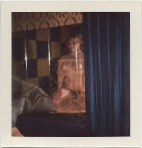 Polaroid: nude woman reflected in mirror, 1960s