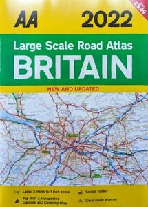 AA - 2022 Large Scale Road Atlas of Britain -  A3 Road Atlas *FREE P&P*