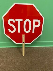Double Sided Stop Sign for Crossing Guard 18 x 18