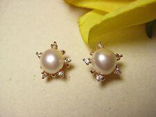 Ohrring vergoldet 925 Silber Ohrstecker Barock Perlen Süßwasserperlen Schmuck