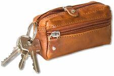 Wild Nature® Leder-Schlüsseltasche mit 2 Schlüsselringe aus Multicolor Leder