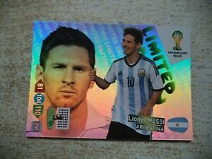Panini Adrenalyn XL World Cup Lionel Messi Limited Edition Brasil 2014