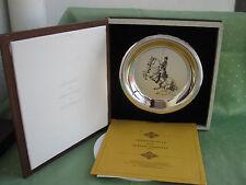 Schöner 925er Sterling Silber Teller Hofreitschule Mirjam Verhoeff 1972