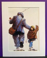 """Alexander Millar ~ Gone Fishing ~ Art Mounted Picture 14x11"""" FREE P&P"""