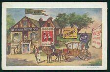 advertising Knorr Sodex Prim Phospho-cacao poster original c1910s postcard