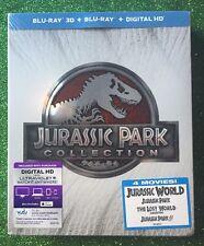 Jurassic Park 3D Collection (Blu-ray 3D/Blu-ray/Digital HD, 6-Discs; 2015) NEW