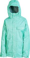 New 2014 Womens Nitro Siren Snowboard Jacket Small Aqua