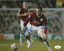 Manchester United Wayne Rooney Autographed Signed 8x10 EPL Photo JSA COA #3