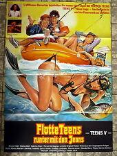 Flotte Teens - Runter mit den Jeans * A1-Filmposter - German 1-Sheet 1982 EROTIK