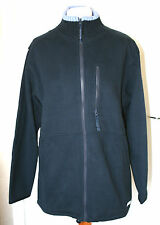 Maine UK14 EU42 new navy zip-up golf sweatshirt with mid blue knitted collar
