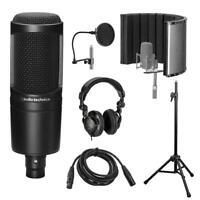 Audio-Technica AT2020 Cardioid Condenser Microphone Recording Setup Kit